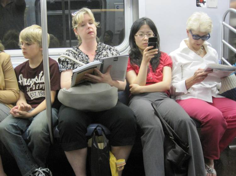 NYC MTA subway New York City ignoring people