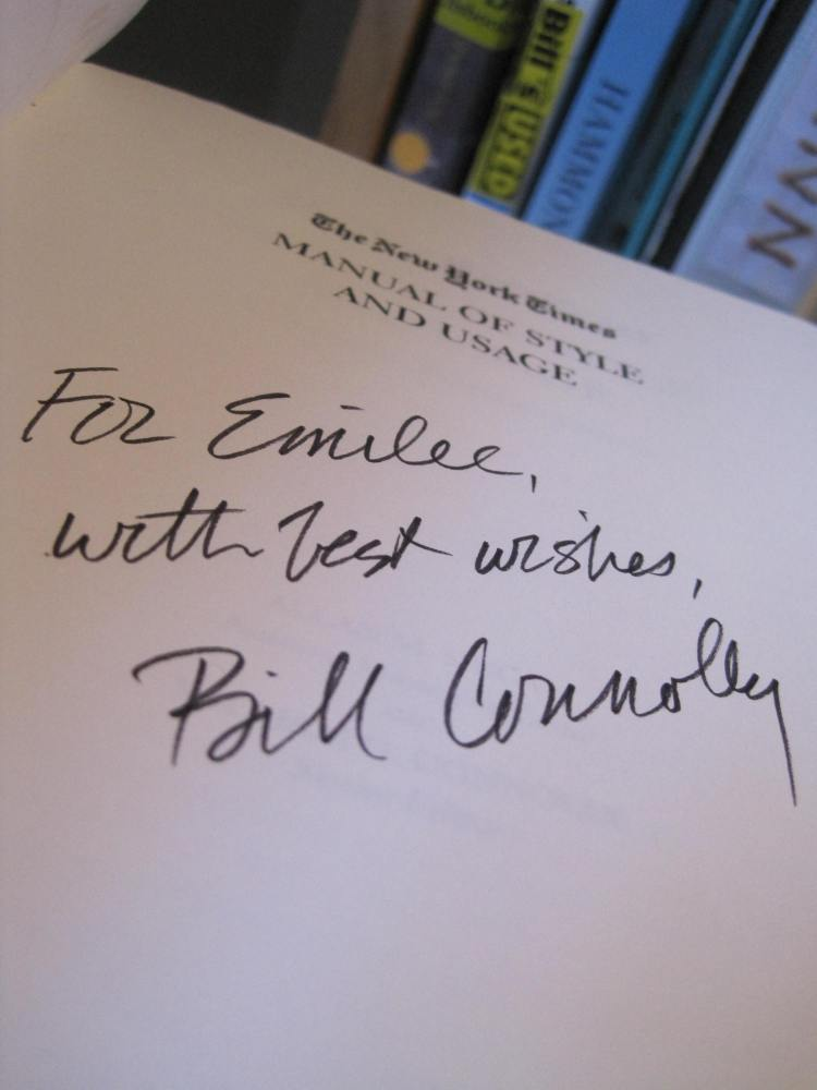 william connolly signature autograph new york times style usage