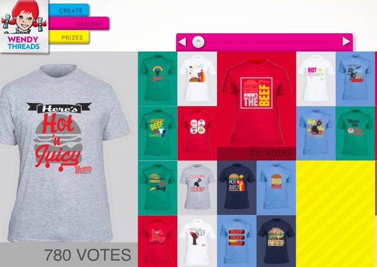 T-shirt design contest Wendy's