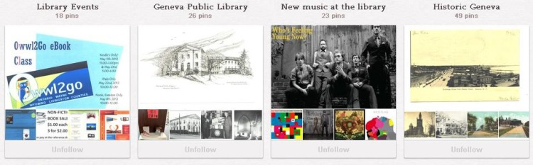 Geneva Public Library Pinterest Boards
